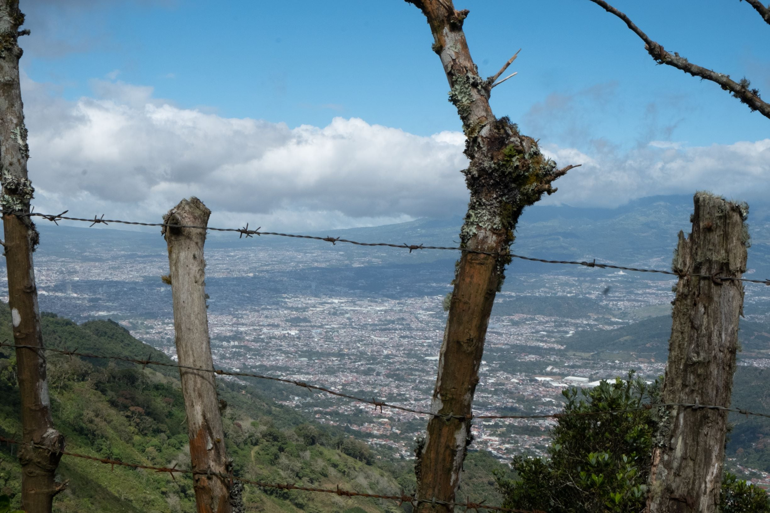 View of San Jose, Costa Rica in the Central Valley