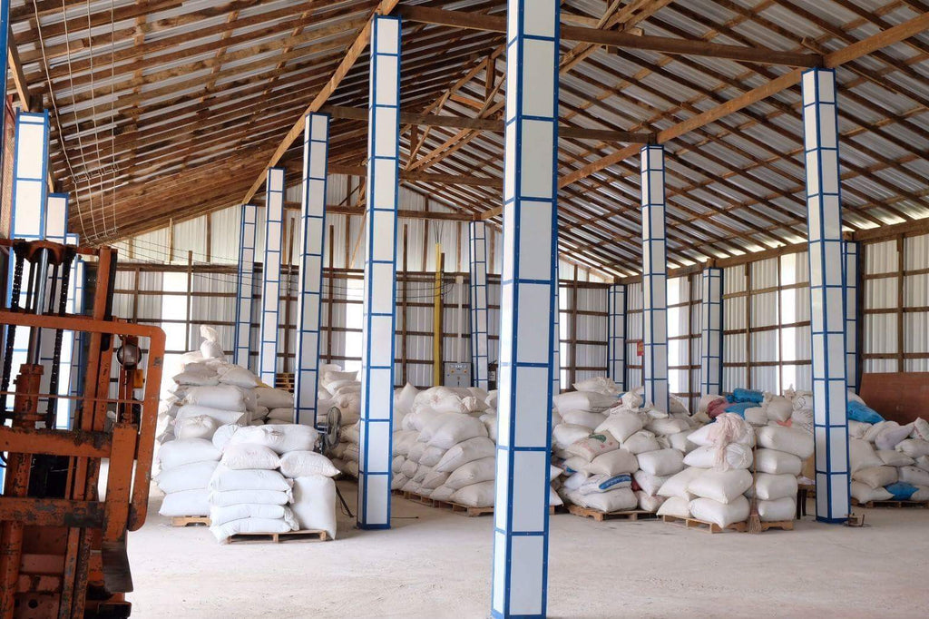Coffee storage in the Beanspire warehouse