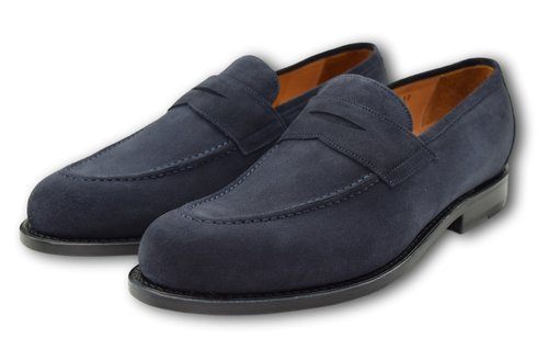 Penny Loafers - BLUE SLATE SUEDE