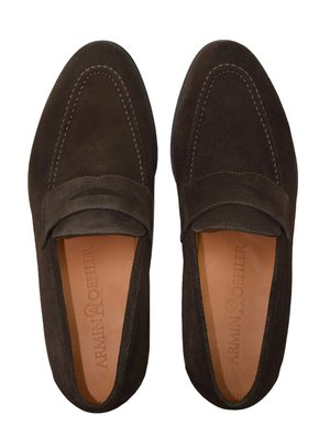 Penny Loafers - BROWN SUEDE