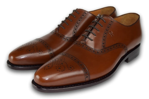 Detailed Lace up -COGNAC BROWN