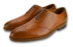 Detailed Lace up- SADDLE TAN