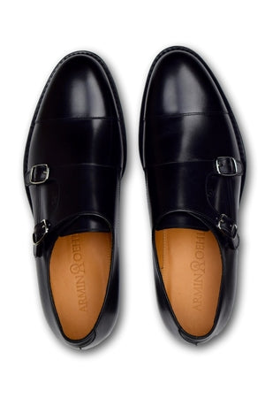 Double Monk Strap - CHARCOAL BLACK