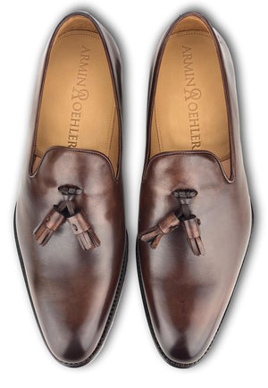 Tassel Loafers - TOBACCO