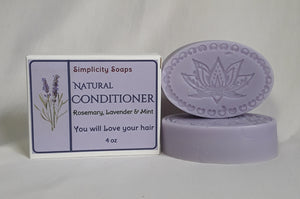 Hair Conditioner Bar, Simplicity soaps