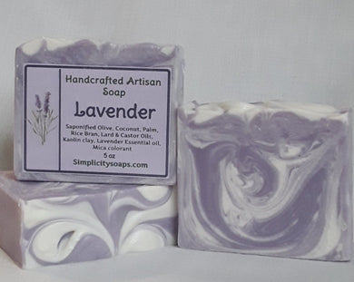Natural Lavender Soap, Lavender essential oil soap