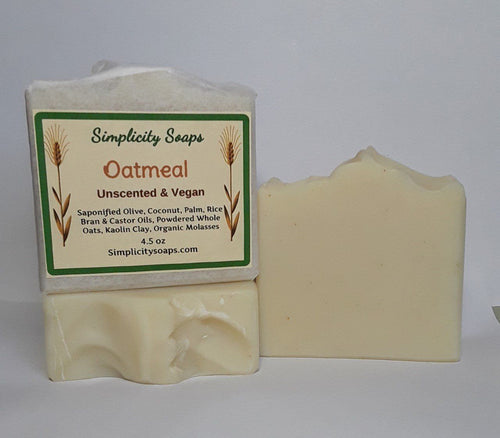 Handmade Oatmeal Soap - Unscented, Vegan