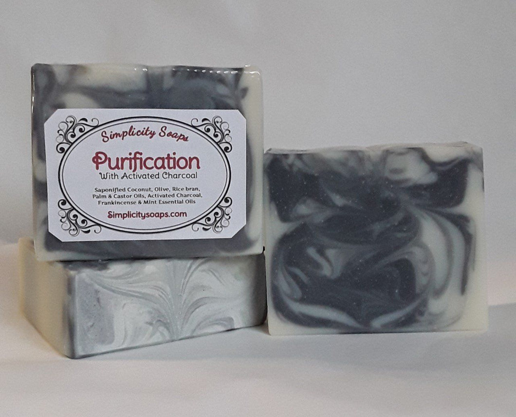 Handmade acne soap, activated charcoal soap recipe.