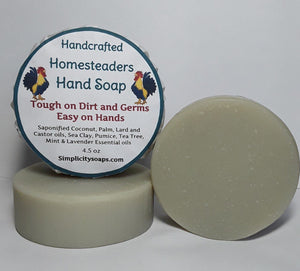Homesteaders Hand Soap, natural soap, soap, natural hand soap, homesteading, mechanics soap, natural hand soap for men