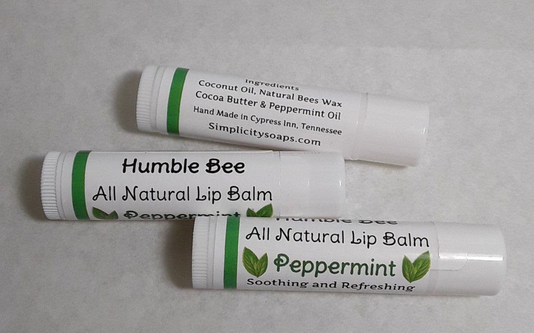Humble Bee Natural Lip Balm - Simplicity Soaps