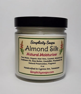 Natural moisturizing lotion - Almond Silk, Body lotion without chemicals, handmade lotion, vegan lotion recpie, lotion formula,