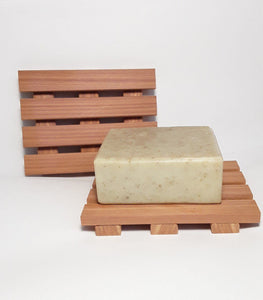 Handmade wood soap dish, cedar soap deck, wood soap saver,