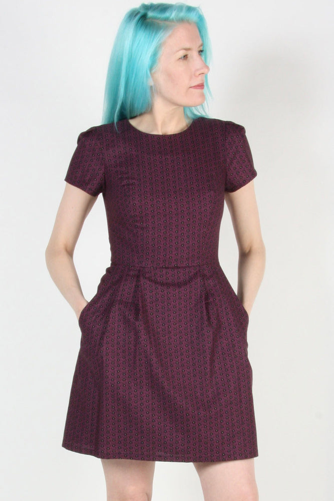 Load image into Gallery viewer, Engoulevent Dress – Shadow Plum