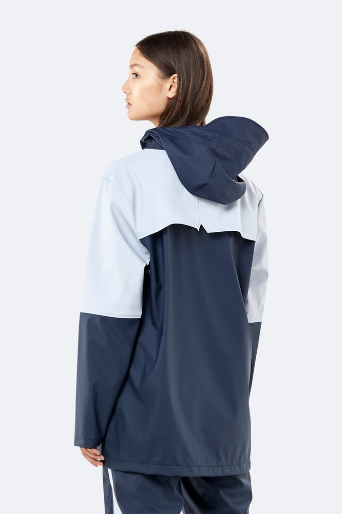 Color Block Anorak - Blue/Ice