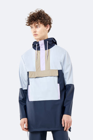 Load image into Gallery viewer, Color Block Anorak - Blue/Ice