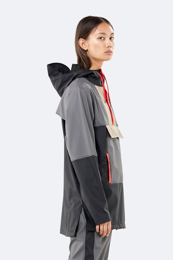 Color Block Anorak - Black/Charcoal