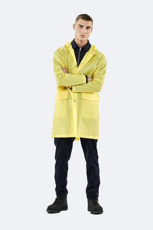 Hooded Coat - Foggy Yellow