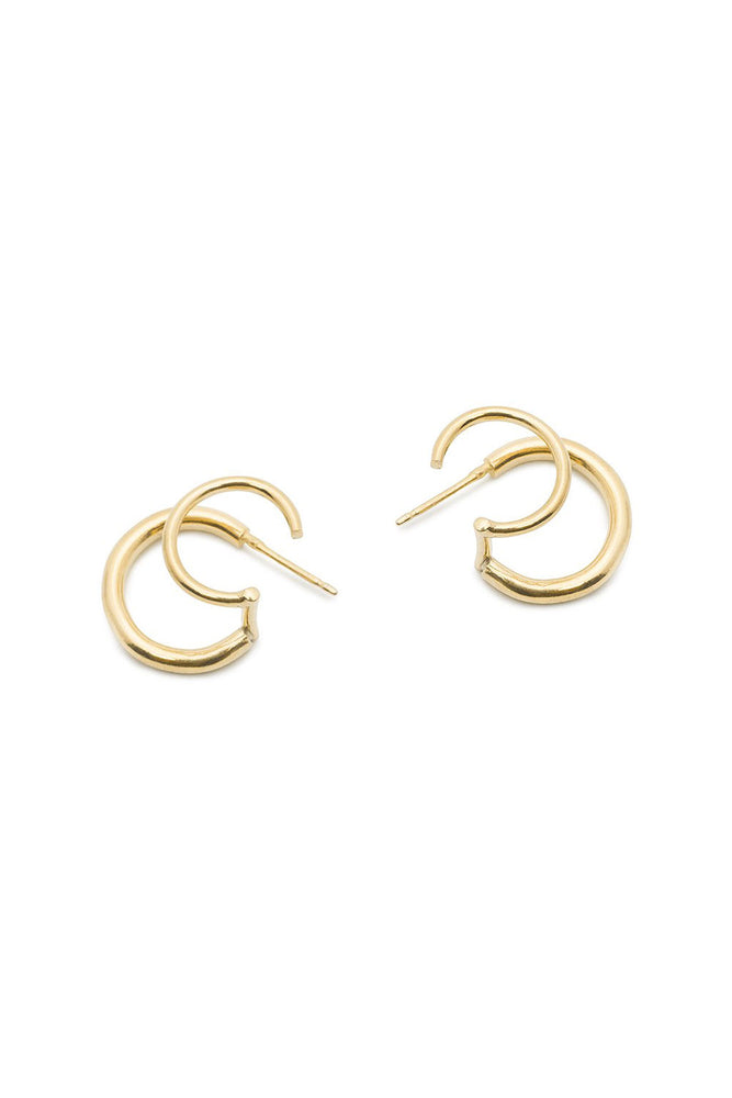 Halo Faux Double Hoops