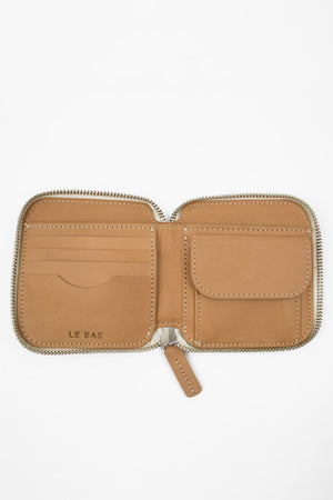 Square Zip Wallet - Natural