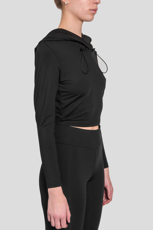Load image into Gallery viewer, Hooded Long Sleeve Top