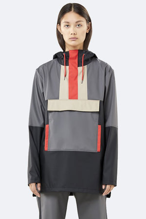 Load image into Gallery viewer, Color Block Anorak - Black/Charcoal