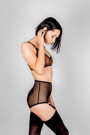 Wren Panties with Garters