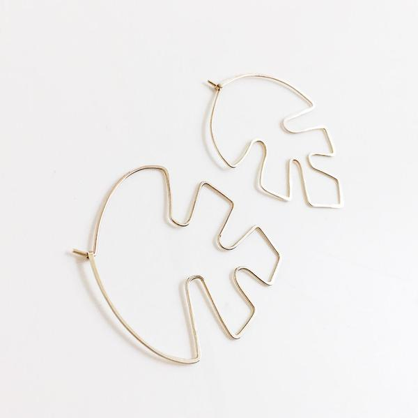 Load image into Gallery viewer, Philodendron Earrings