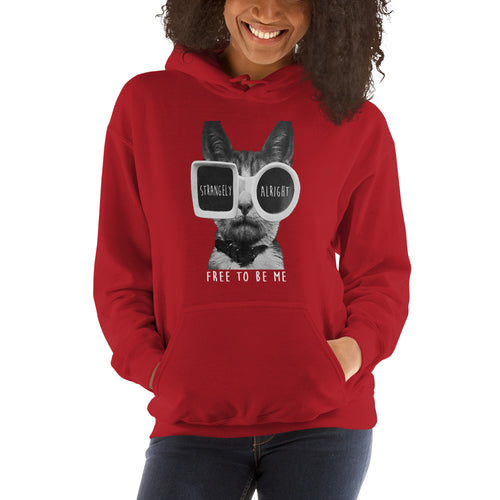 SA Glasses Wearing Cat Hooded Sweatshirt