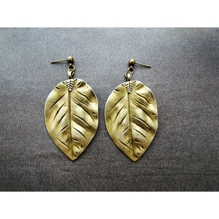 Fran Green Balsam Poplar Bronze Earrings
