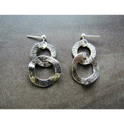 Fran Green Cleopatra Silver Earrings
