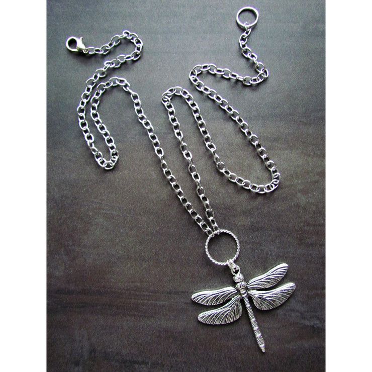 Fran Green Necklace - Dragonfly