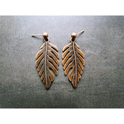 Fran Green Elm Copper Earrings