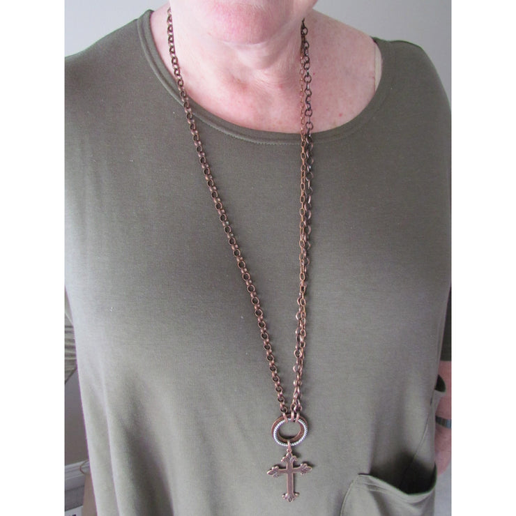 Fran Green Necklace - Nottingham Copper