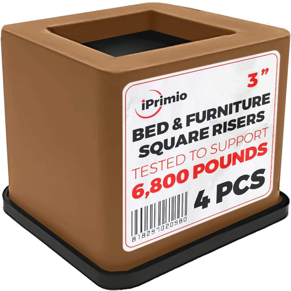 Bed and Furniture Square Risers - (4 Pack)