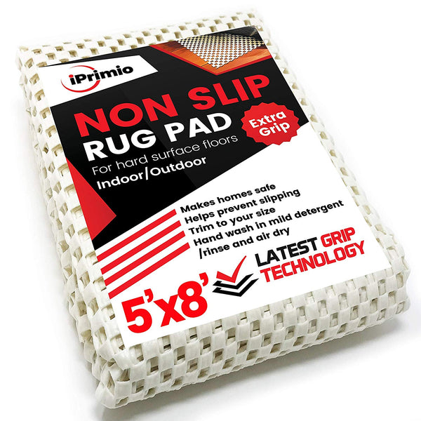 iPrimio Non Slip Area Rug Gripper Pad 5x8 for Kitchen Area