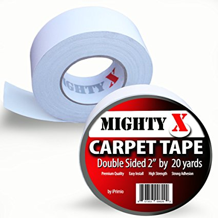 "Mighty""X"" Carpet Tape, Heavy Duty Tape (20 Yards)"