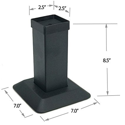 Aluminum Bed And Furniture Riser-4 Pack Of Heavy Duty Risers