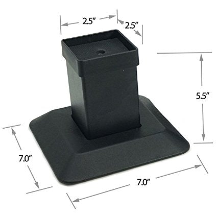 Aluminium Bed And Furniture Risers-Increases Height By 5.5-Won't Crack
