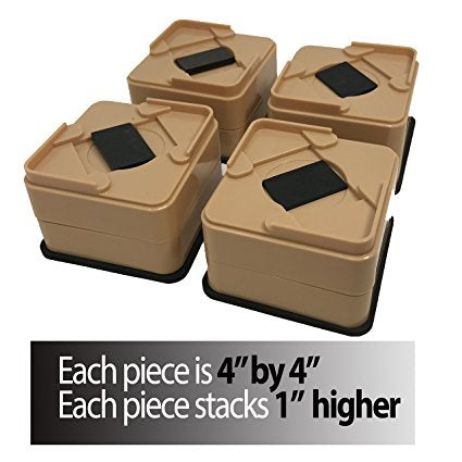 Stackable Bed And Furniture Riser-Won't Crack Like Other Lifters
