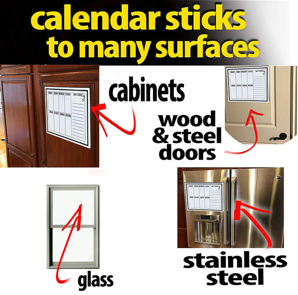 Day Of Week Calendar-Sticks to ALL Surfaces