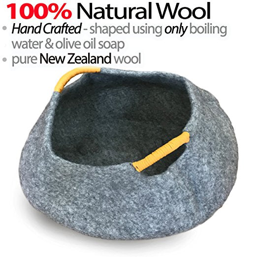 Natural Wool LARGE Cat Basket