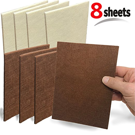 Mighty X  Felt Furniture Pads  (4 Pc Brown / 4 Pc Beige)