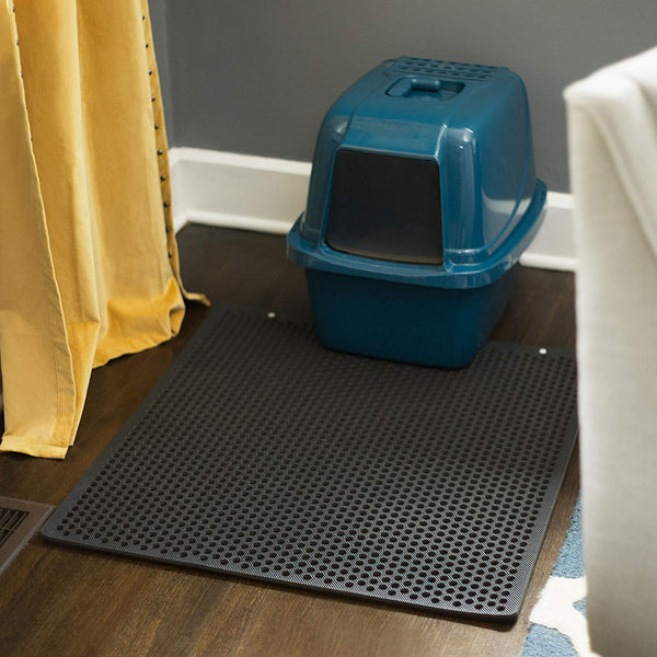 Jumbo Cat Litter Mat-Larger Holes That Makes Litter To Dump Easy