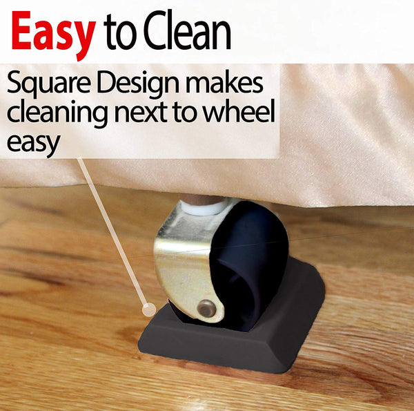 Newest Bed Stopper & Furniture Stopper. Caster Cups, Fits All Wheels Furniture