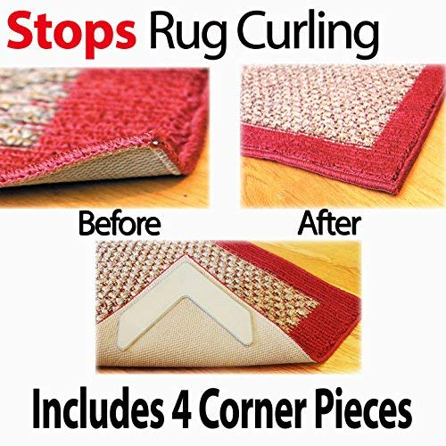NeverCurl V Shape Design to Instantly Stop Rug Corner Curling