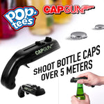 Pop Tee's Black Bottle Cap Gun Launcher Shooter (Black)