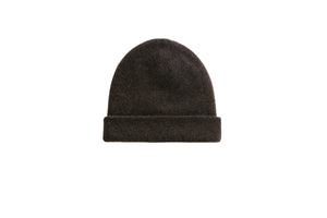 women cashmere beanie knit chocolate unisex