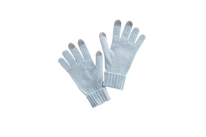 women cashmere gloves seamless technology blue
