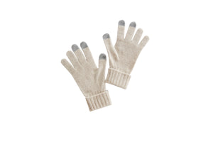 women cashmere gloves seamless technology beige neutral