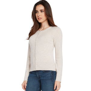 cream 100% cashmere cardigan sweater women